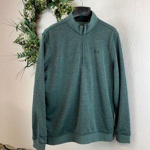 Under Armour 1/4 Zip Green Pullover Sweatshirt XL
